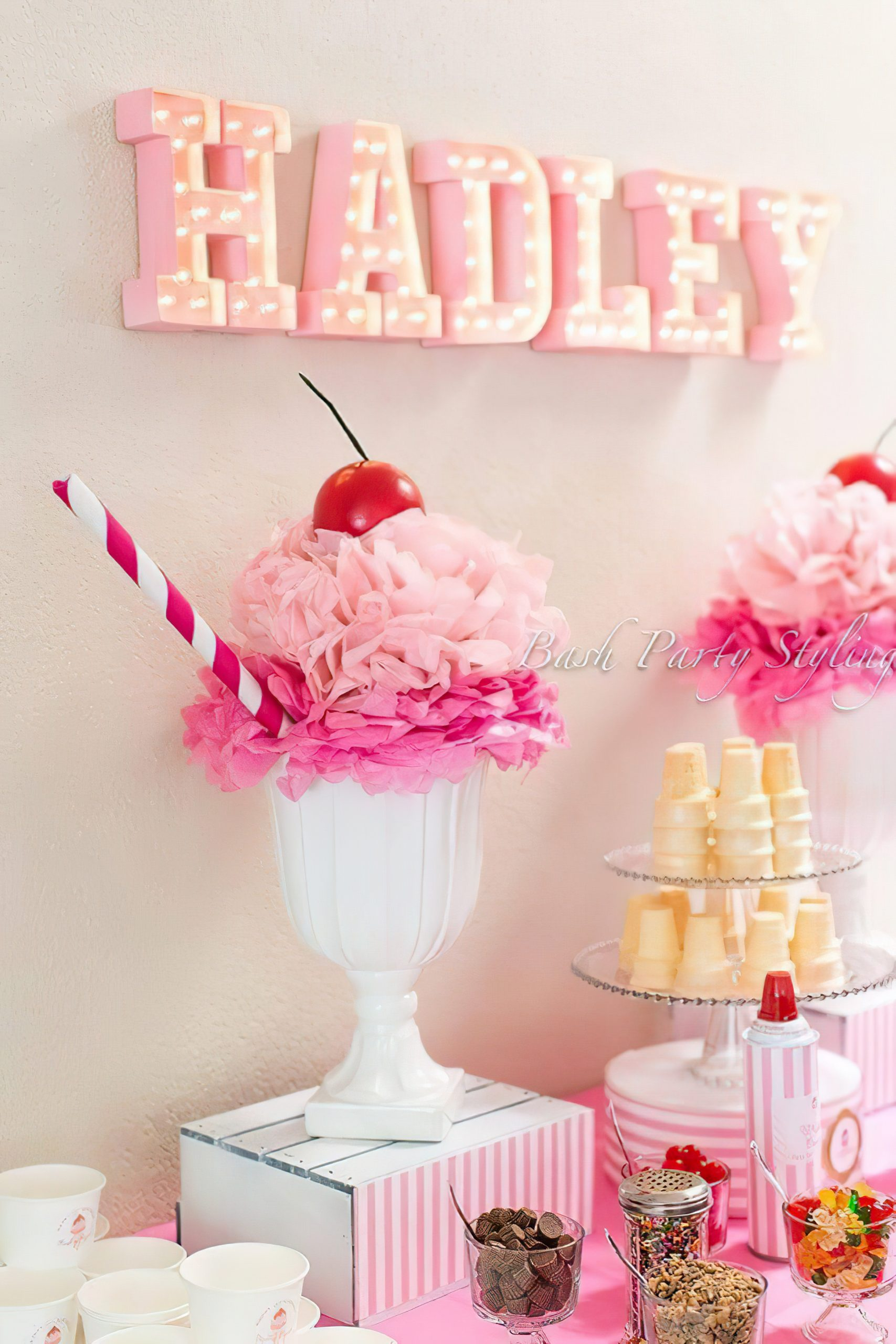 Sweetly Pink Ice Cream Party