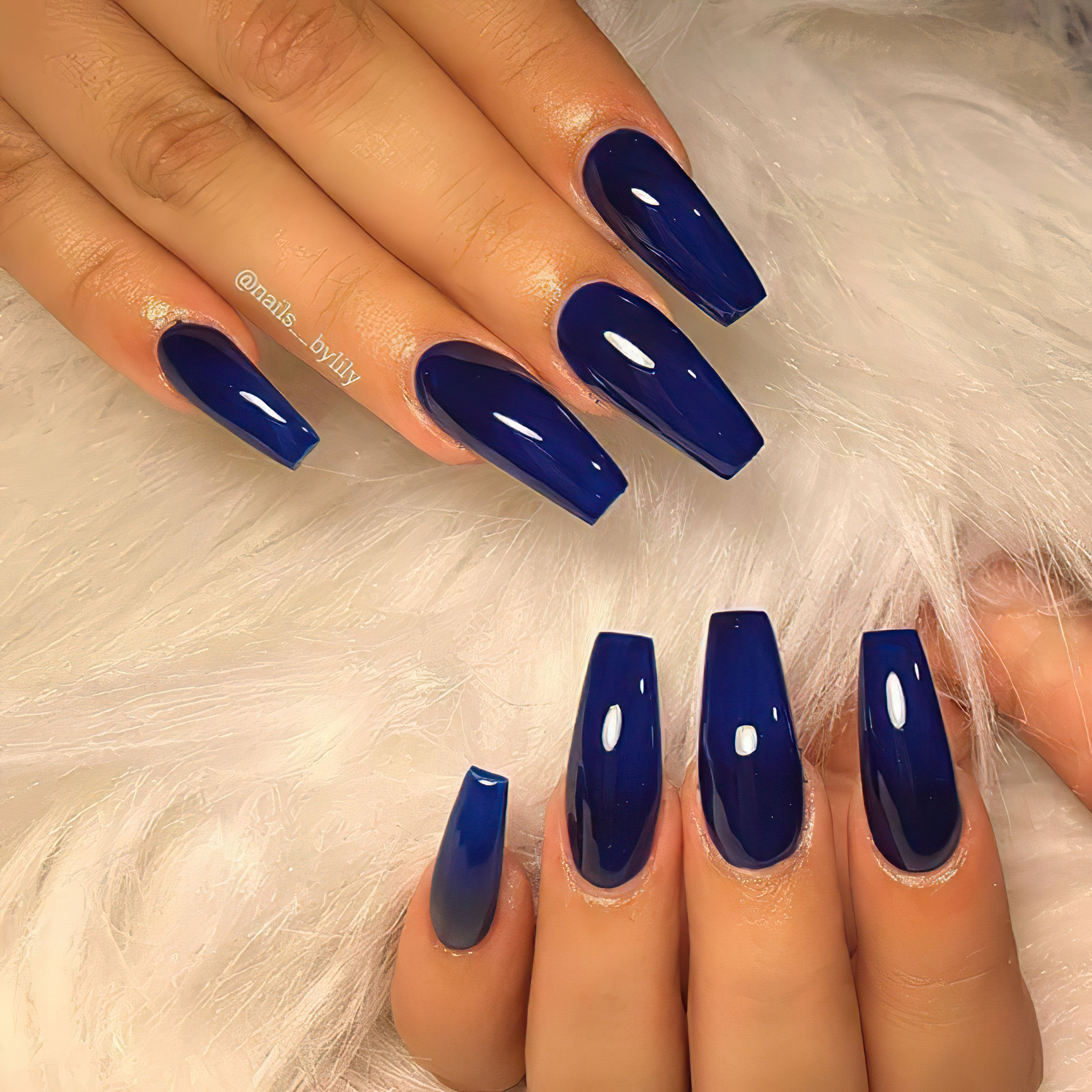 Silky Deep и Dark Royal Blues