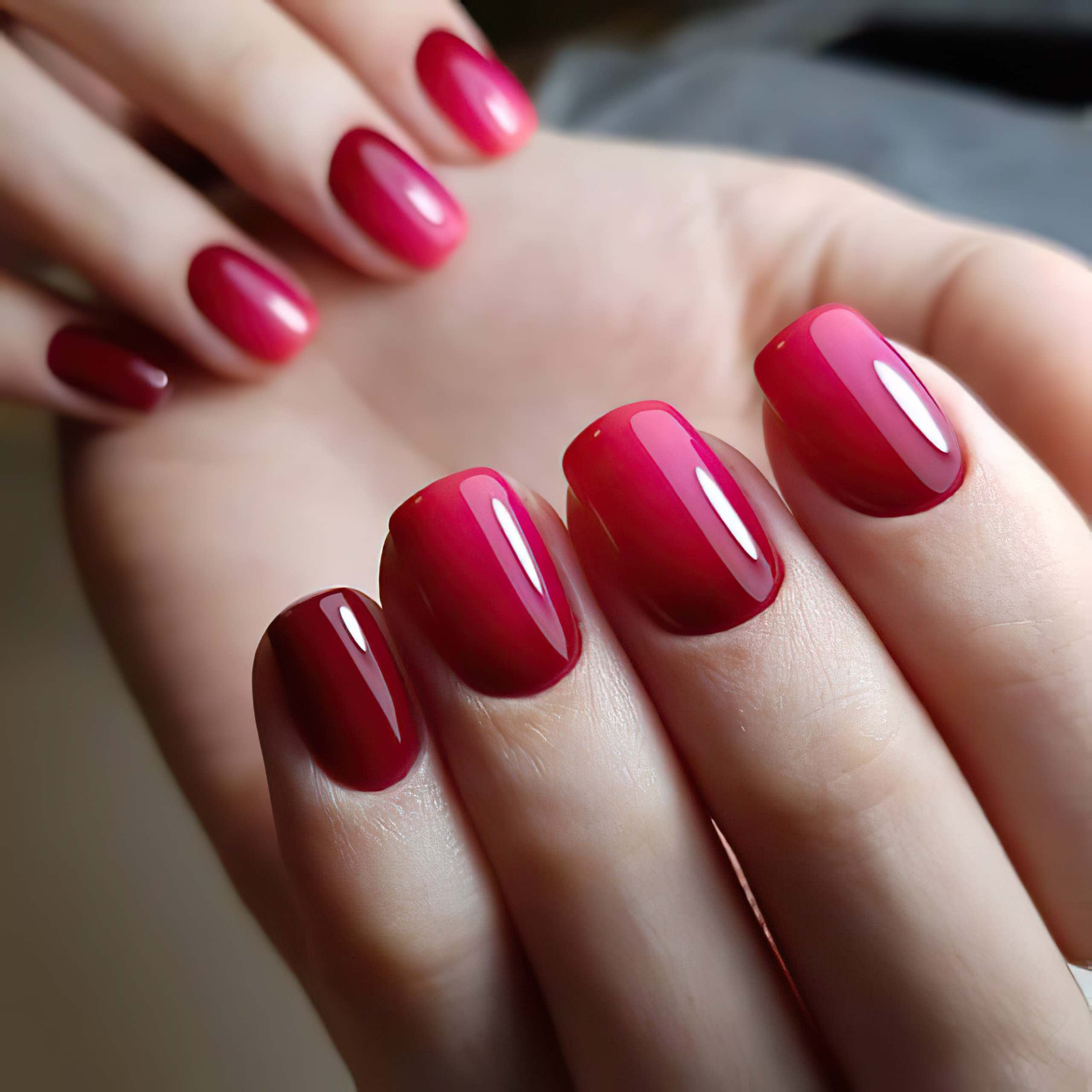 Элегантный Regal Red Ombre Mani